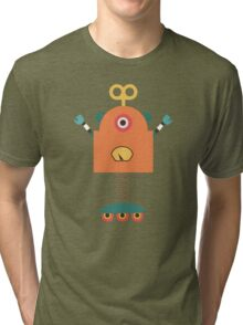 Cute Retro Robot Toy Tri-blend T-Shirt