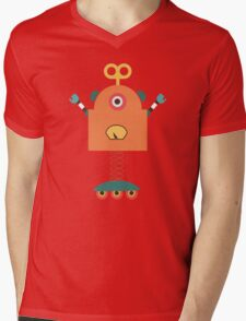 Cute Retro Robot Toy Mens V-Neck T-Shirt