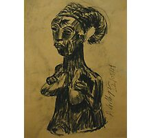 African bust #2 Photographic Print