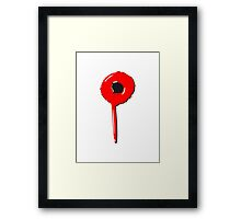 Blob drip blood bullet Framed Print