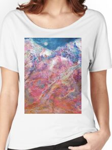 Moon Over the Mountains Women's Relaxed Fit T-Shirt