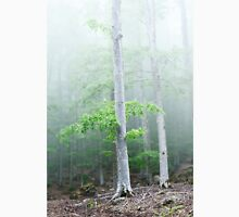 Fog and wind in the forest Unisex T-Shirt