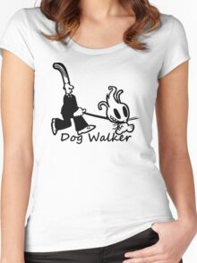 Dog Walker  Women's Fitted Scoop T-Shirt