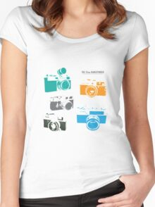 Vintage Cameras - The 35mm Rangefinder Women's Fitted Scoop T-Shirt