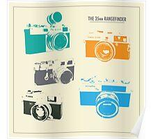 Vintage Rangefinder Cameras Poster
