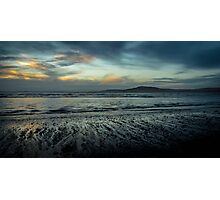 Aberafan Beach - Winter Blue Photographic Print