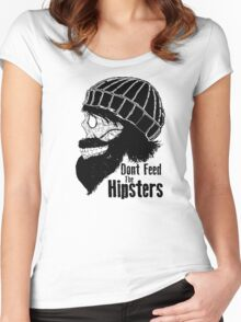 Dont Feed The Hipsters  Women's Fitted Scoop T-Shirt