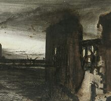 Ruins in a Landscape by Bridgeman Art Library