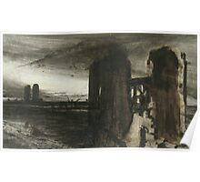 Ruins in a Landscape Poster