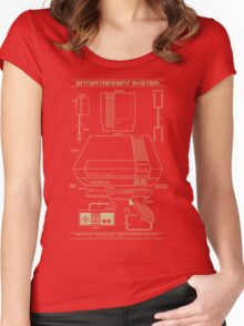 Entertainment System Women's Fitted Scoop T-Shirt