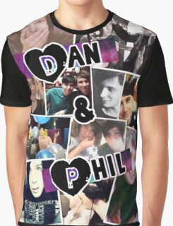 Dan and Phil Collage Graphic T-Shirt
