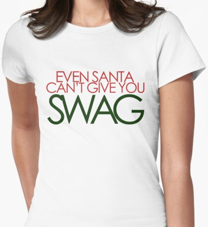 santa can't give you sawg Womens Fitted T-Shirt