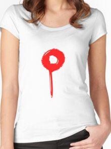 Blob drip blood bullet Women's Fitted Scoop T-Shirt