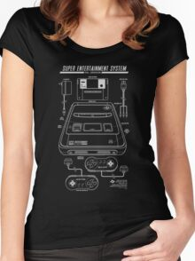 Super Entertainment System PAL Women's Fitted Scoop T-Shirt