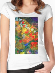 Tulips Tumble Women's Fitted Scoop T-Shirt