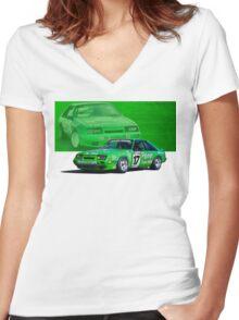 Dick Johnson Mustang Women's Fitted V-Neck T-Shirt