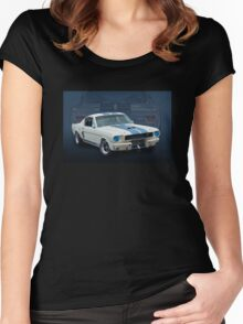 1966 Shelby Mustang GT350 Women's Fitted Scoop T-Shirt
