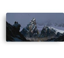 Over The Mountains And Far Away Canvas Print