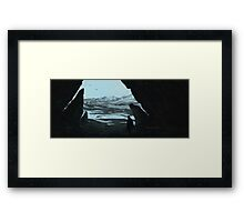 His Future The Past Framed Print