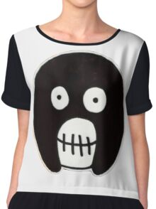 Boosh Skull - Black Chiffon Top