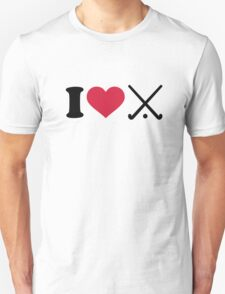 I love Field hockey clubs Unisex T-Shirt