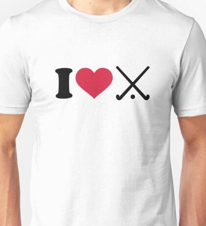 I love Field hockey clubs Unisex T-Shirt