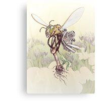 Cyborg Bee Metal Print