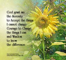 Serenity Prayer Sunflower Square by serenitygifts