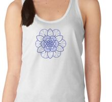 Blue mandala flower on Bondi Beach Women's Tank Top