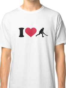 I love Field hockey player Classic T-Shirt