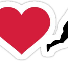 I love Field hockey player Sticker