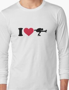 I love Figure skating Long Sleeve T-Shirt