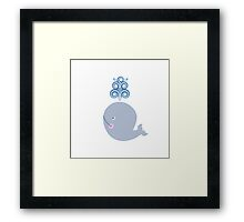 Little Whale Framed Print