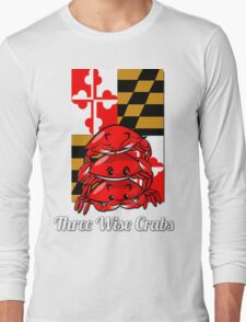 Three Wise Crabs Long Sleeve T-Shirt