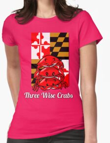 Three Wise Crabs Womens Fitted T-Shirt