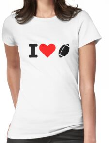 I love football Womens Fitted T-Shirt