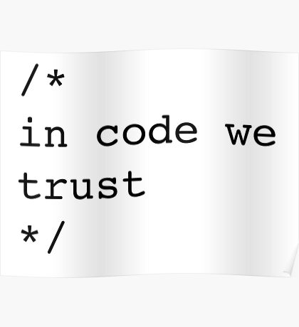In Code We Trust (Black) Poster