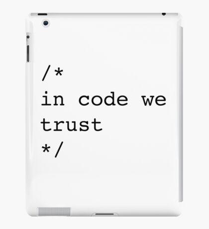In Code We Trust (Black) iPad Case/Skin