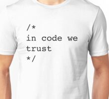 In Code We Trust (Black) Unisex T-Shirt