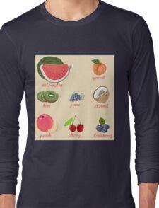 fruit background Long Sleeve T-Shirt