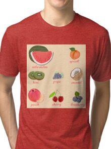 fruit background Tri-blend T-Shirt