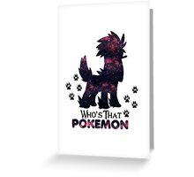 Who's That Pokemon | Furfrou Greeting Card