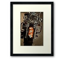 Flaming Hand Framed Print