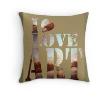 heART of the river Throw Pillow