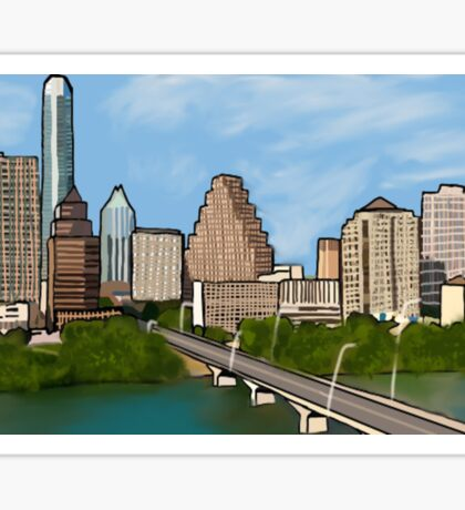 austin texas city skyline Sticker
