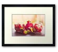 Soft Summer Fruits Framed Print