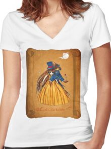 Wanted Beauty and the Beast Women's Fitted V-Neck T-Shirt