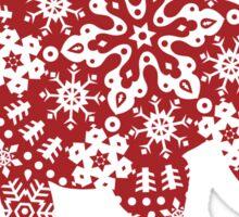 Christmas Snowflakes Pitbull Sticker