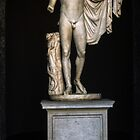 Copy 130 AD of 330 BC Greek sculpture from Agora Athens, Vatican Museum Rome Italy 19840723 0005 by Fred Mitchell