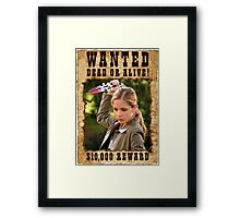 Buffy the Vampire Slayer Wanted Framed Print